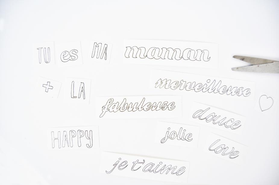 2. Découper tous les mots pour former des étiquettes.