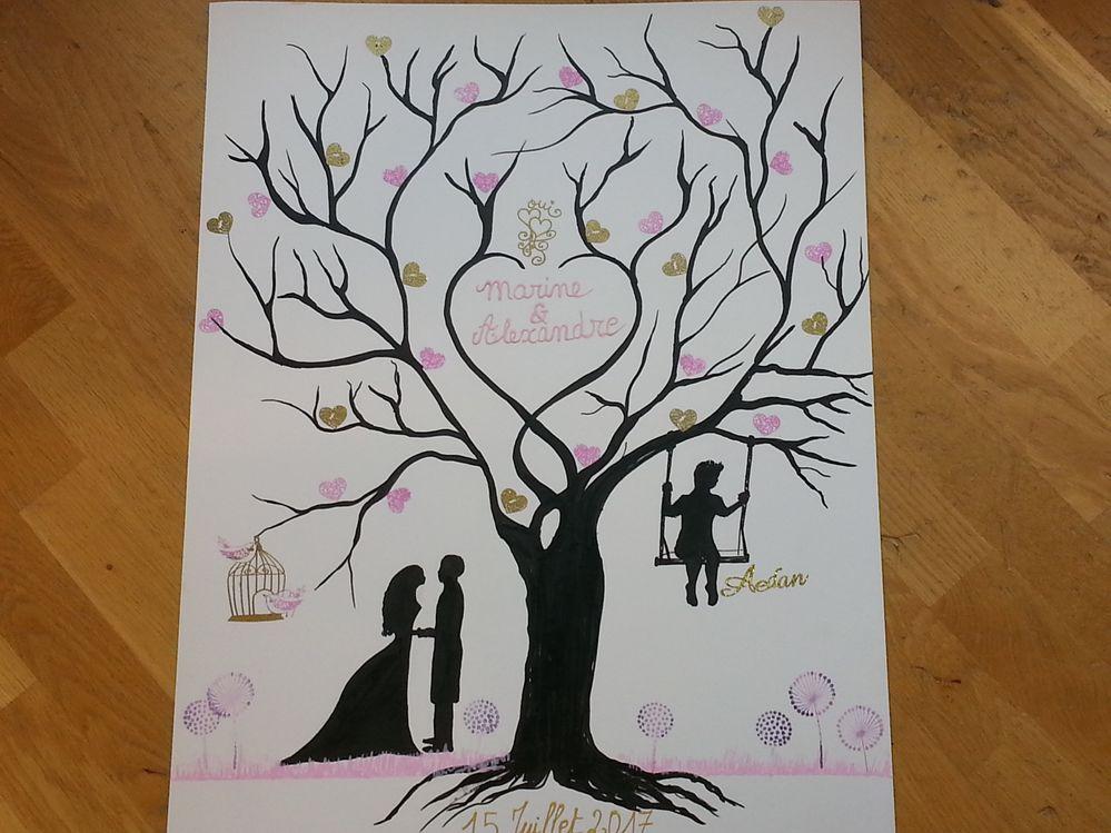 arbre à empreintes romantique