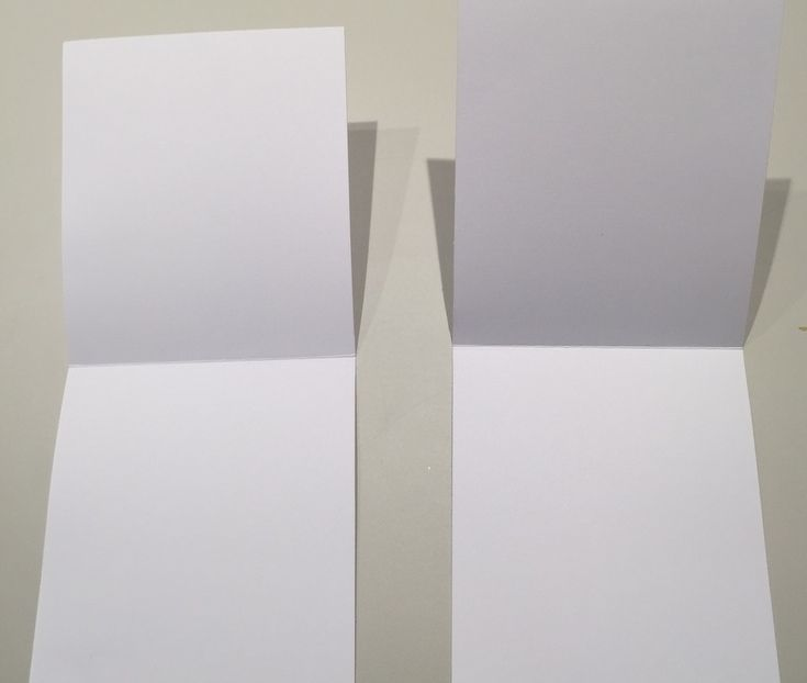 3. Couper 2 pages de 28 x 12 cm et les plier en 2.