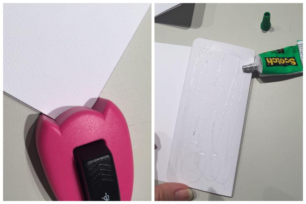 5. Arrondir les angles de chaque papier avec la perforatrice d'angles