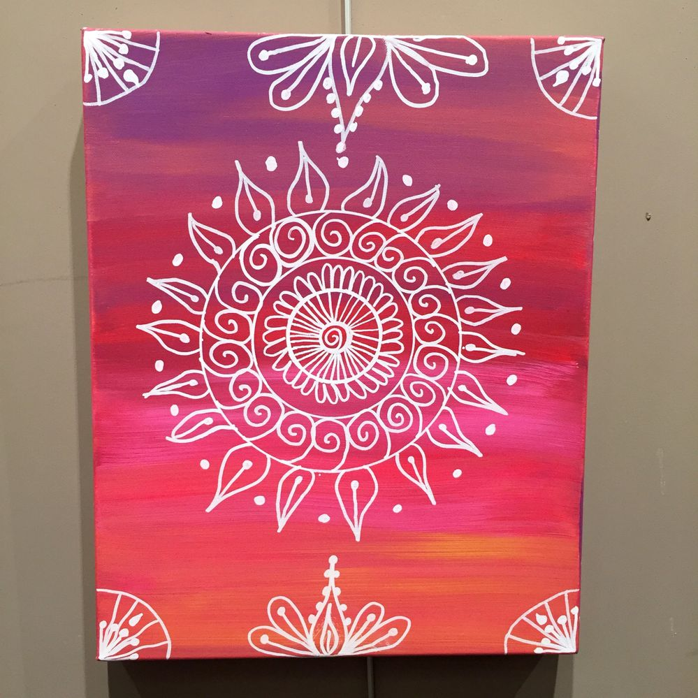 Pour occupez vos ados par temps de pluie ... Un tableau Mandala