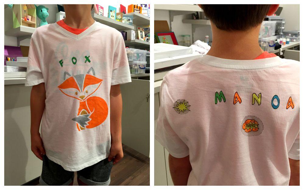 Pour occuper les enfants pendant les vacances, rien de mieux que de customiser son propre Tee-Shirt...