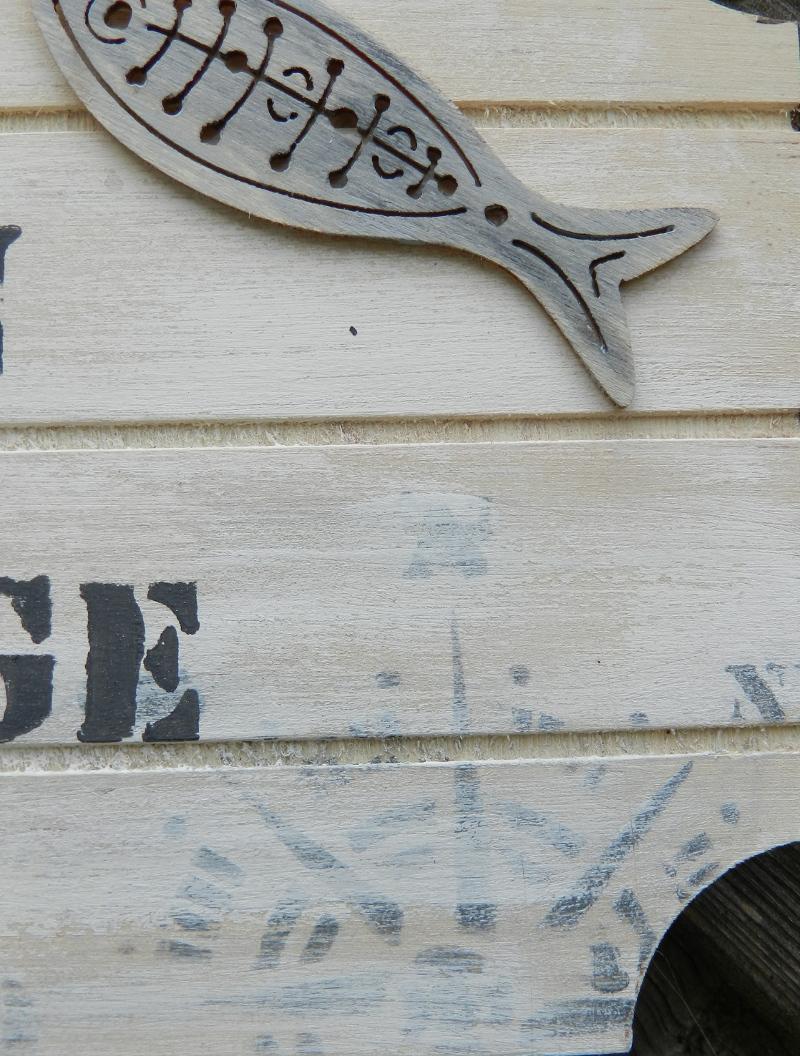 Patine Effet Bois Flotté diy - plaque de porte et bois flotté ambiance mer - cultura