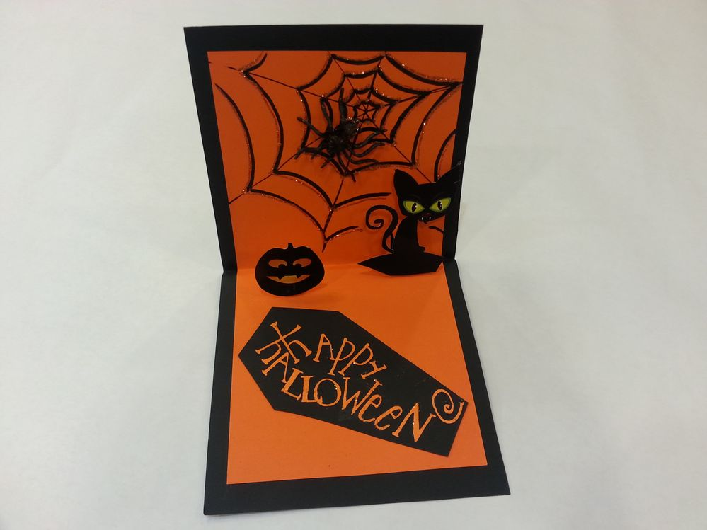 carte 3D pop up halloween