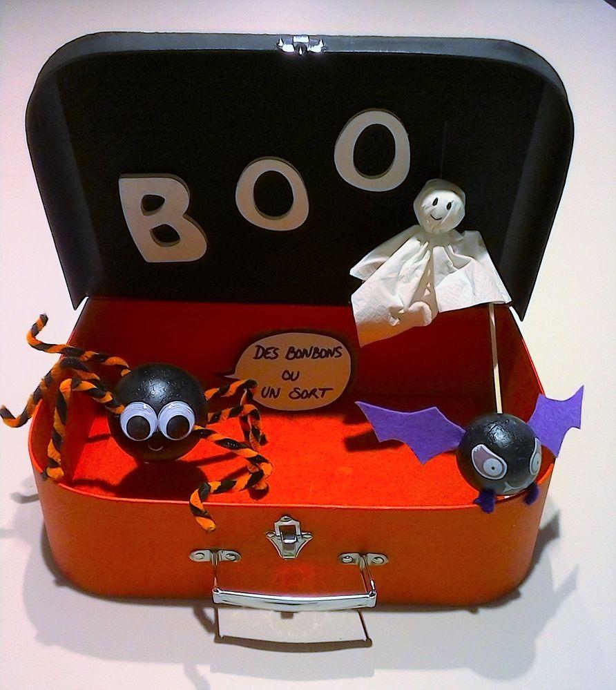 Une valise pour récolter tous les bonbons ou pour ranger les déguisements.