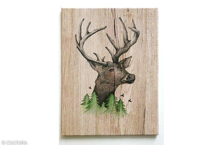 Le tableau peut-être posé sur un chevalet de table en guise de présentation. Pour l'accrocher au mur, encoller une attache d'encadrement au dos.