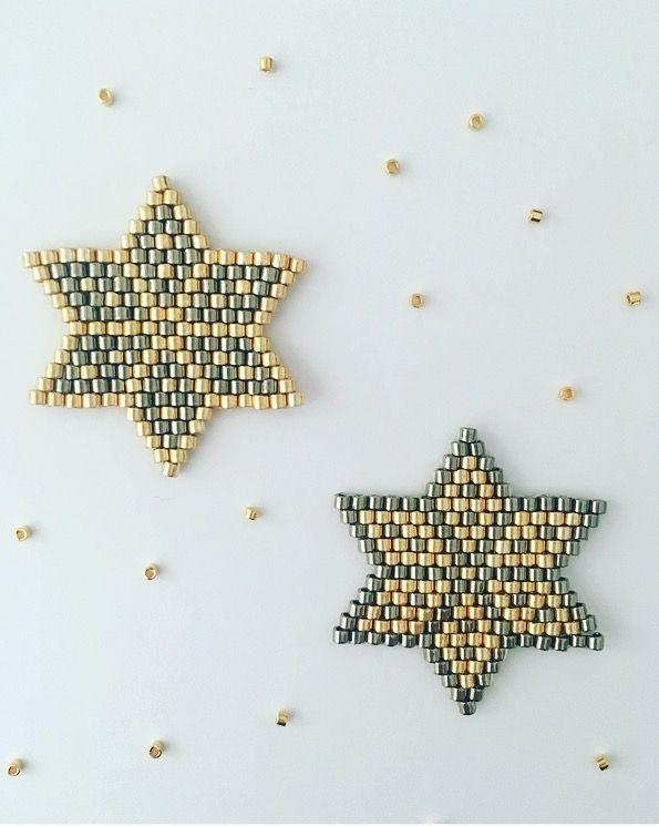Il est possible de tisser des perles Miyuki pour un résultat plus régulier. Amusez-vous à changer les couleurs ! Création originale : ©Jolis Pois