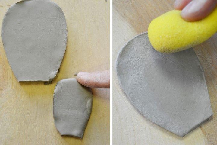 5. Réaliser des empreintes à l'aide d'un embauchoir comme sur les photos ci-dessus.
