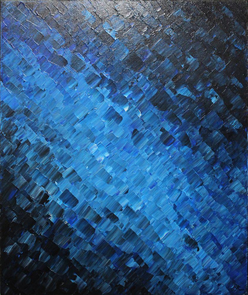 Tableau moderne : Texture océanique.