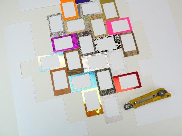 7. Découpez le contour du cadre ainsi crée avec un cutter.