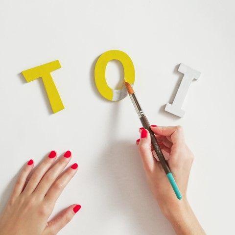 2 - Peindre les lettres