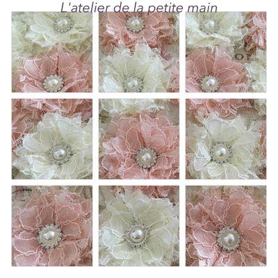 Fleurs en dentelle
