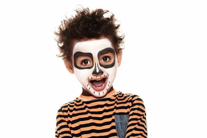 3. Prenez un pinceau fin et le fard Noir, et tracez plein de petits traits tout autour de la bouche.