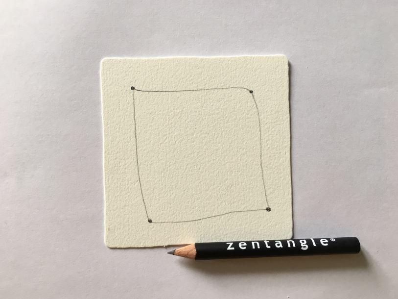 2. Reliez les points par des traits tracés à main levée pour créer une bordure.