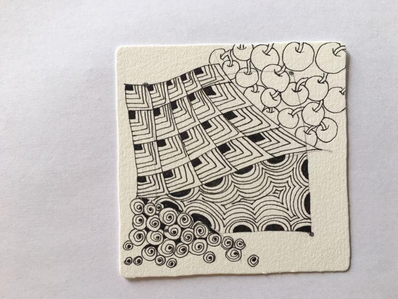 7. Les motifs peuvent dépasser du cadre de la bordure. Vous êtes libre !