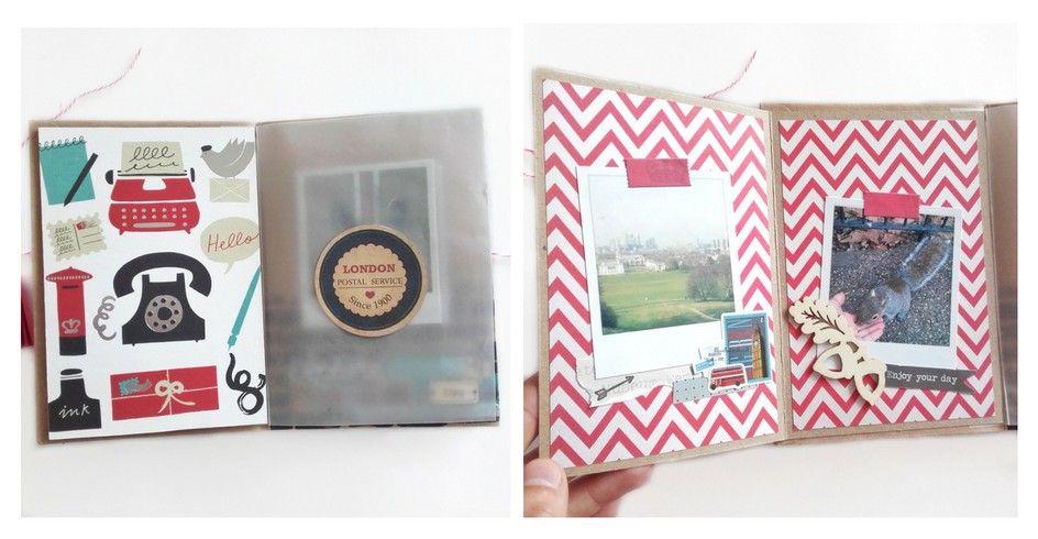 1ère page lorsque l'on ouvre l'album + double pages cachées derrière la « carte postale ».