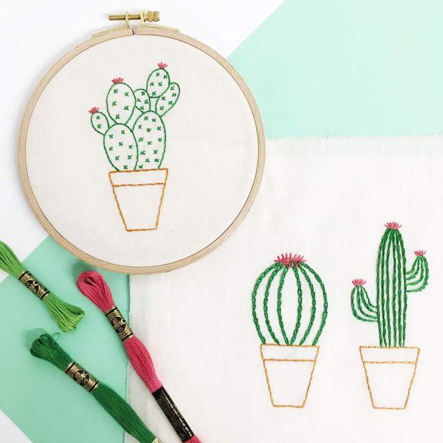 Broderies cactus (c) Les Plaisanteries