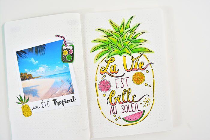 2. Coller d'autres stickers décoratifs sur les parties vides de l'ananas.