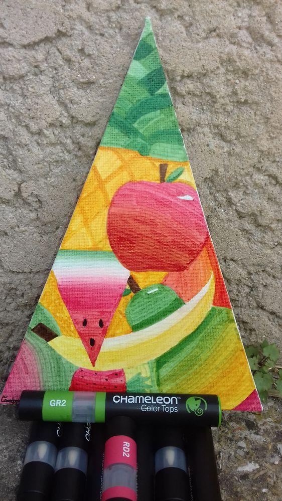 Toile triangulaire en coton de chez Cultura