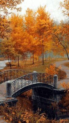 Un pont en automne