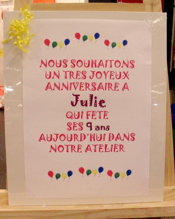 Bon Anniversaire Julie Cultura