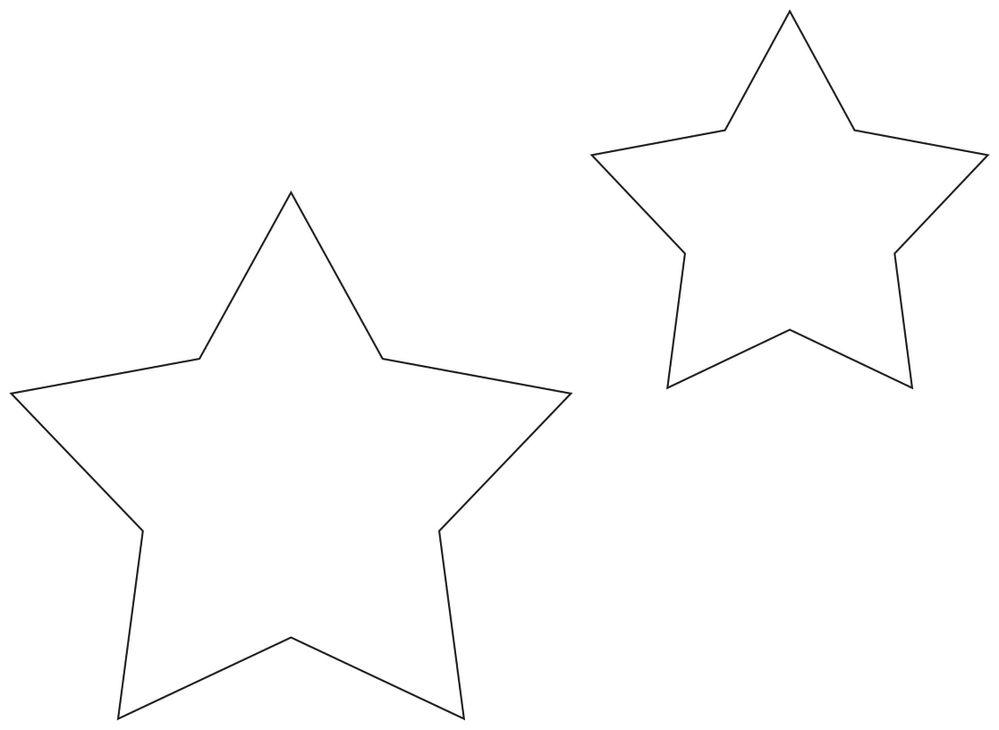 Tout d'abord imprimer les gabarits étoiles ci-dessus avant de commencer.