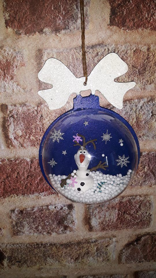 Boule a neige Olaf , Gomille forme boule , Boule plastique Crealia,  , figurine Papo