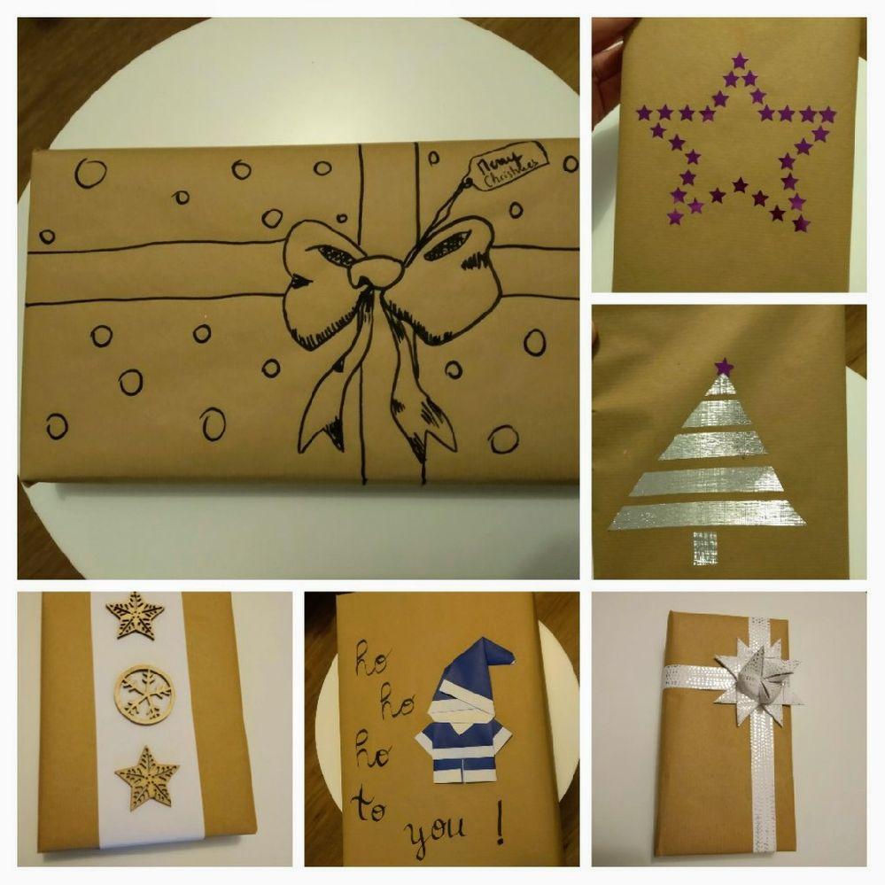 Papier craft et un peu d'imagination : origami, pliage étoile de froebel, support en bois, masking tape, sequins, dessin au posca
