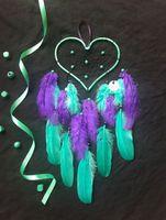 Cœur turquoise et violet