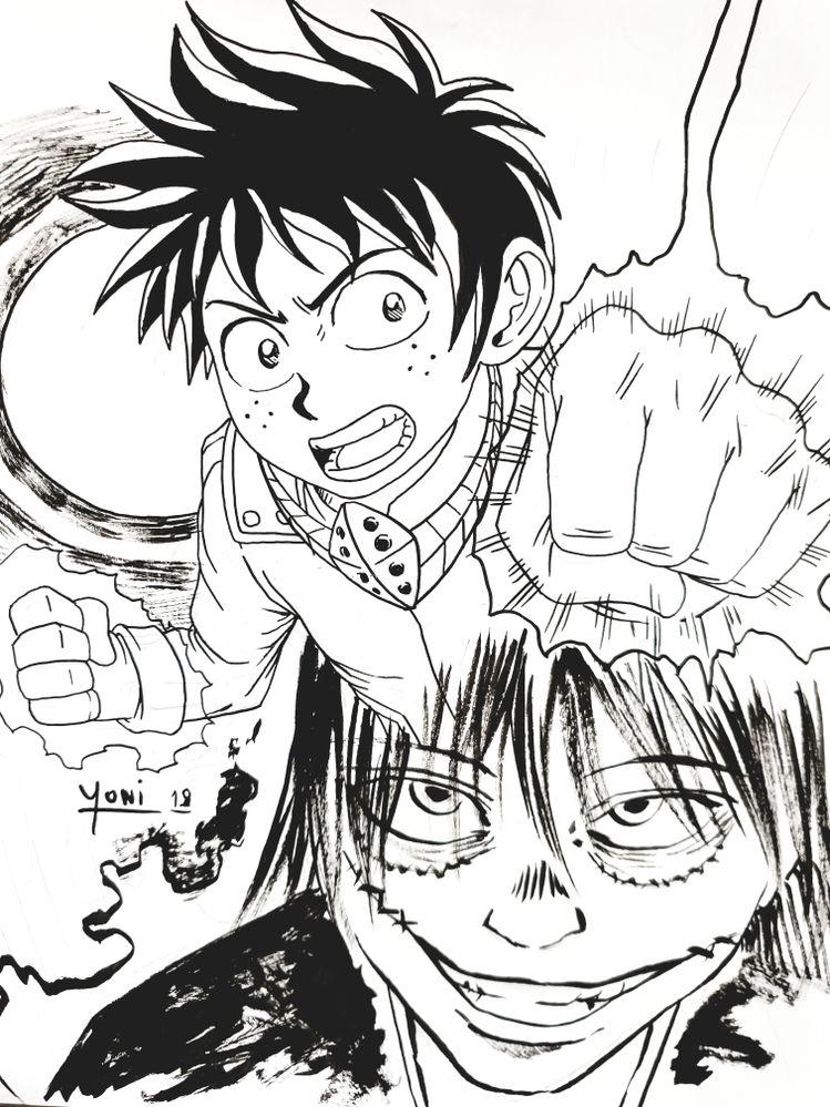 """Ce qui me plait le plus dans le manga """"My Héro Académia"""" est le style de dessin de Kohei Horikoshi. Dessin que je met à l'honneur avec ce fan art façon speedart."""