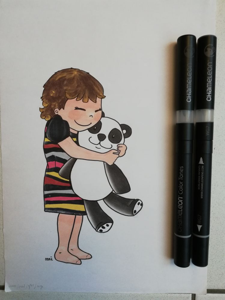 Manon et son panda