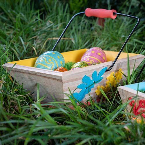 3. Les paniers sont prêts pour la châsse aux œufs de Pâques !