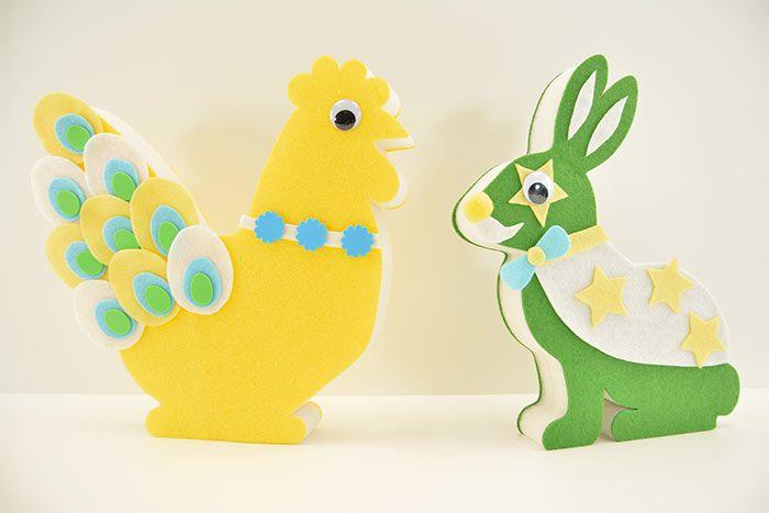 Poule et lapin peuvent desormais se cacher dans le jardin à la recherche des œufs de Pâques !