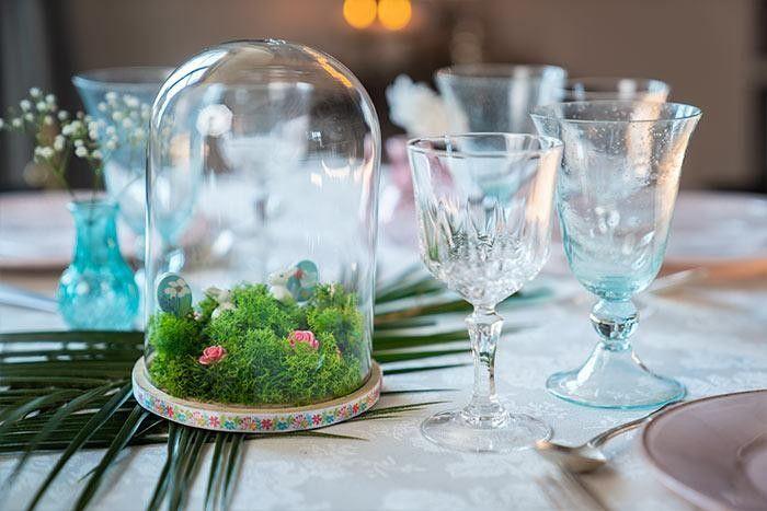 5. La cloche végétale est prête pour décorer votre table ou votre intérieur.