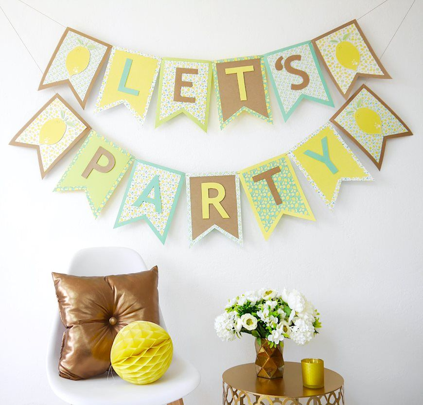 9. La guirlande est prête pour décorer votre fête.