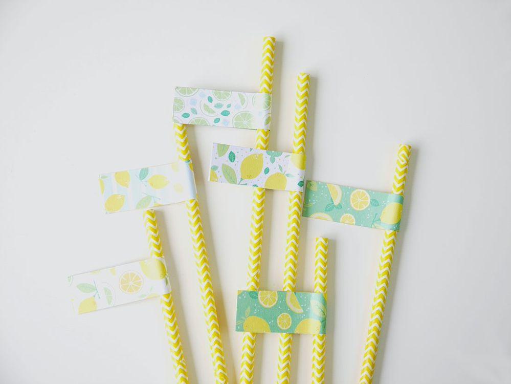 3. Créer plusieurs décorations de pailles.