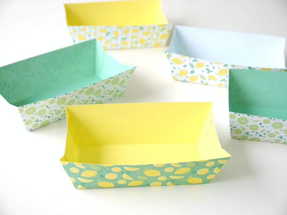 6. Créer plusieurs boîtes en variant les imprimés des papiers de la collection.