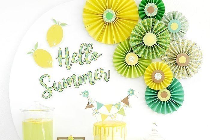 ETAPE 10/10 L'enseigne Hello Summer est prête pour décorer votre ambiance de fête!