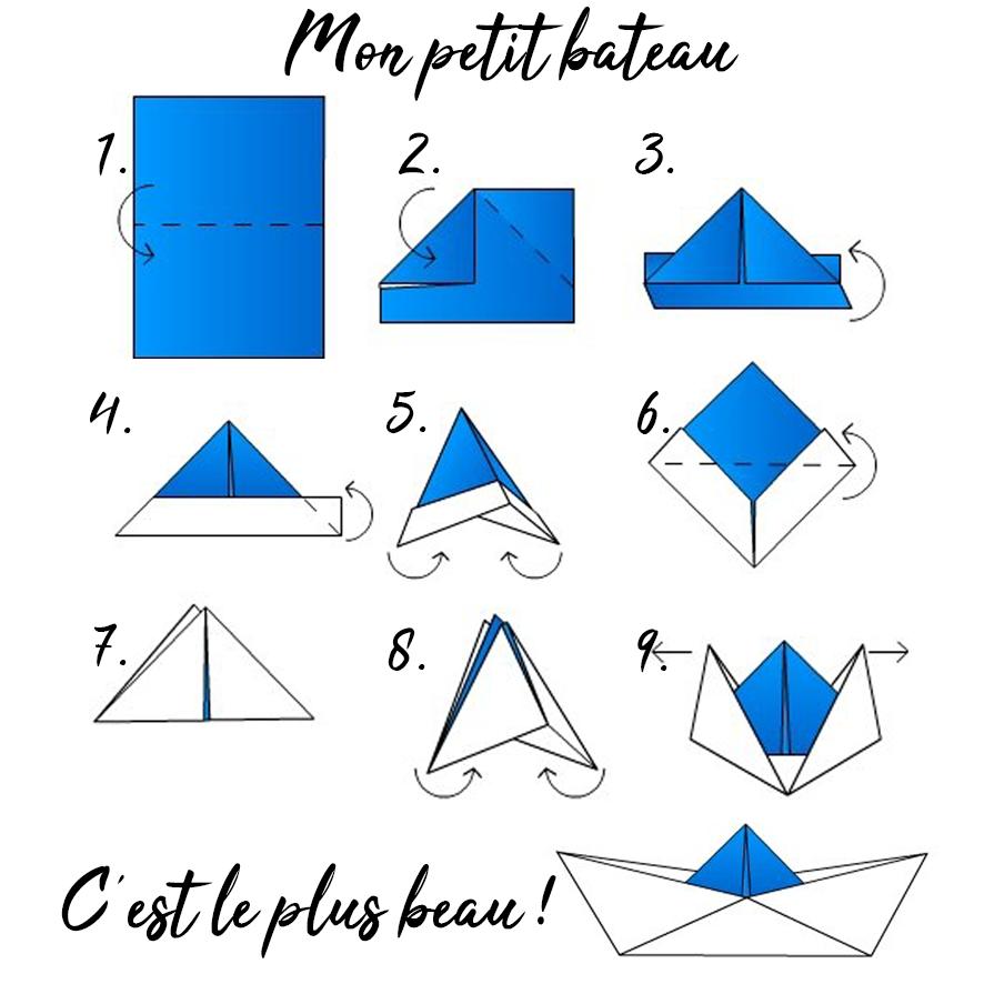 Diy Guirlande De Bateau En Origami Cultura