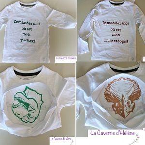Des T shirts rigolos pour mes enfants