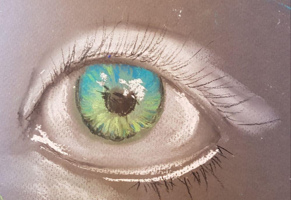 Oeil pastels secs