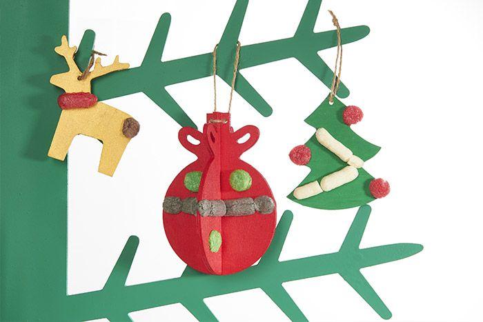 7. Les suspensions sont prêtes pour décorer le sapin de Noël.
