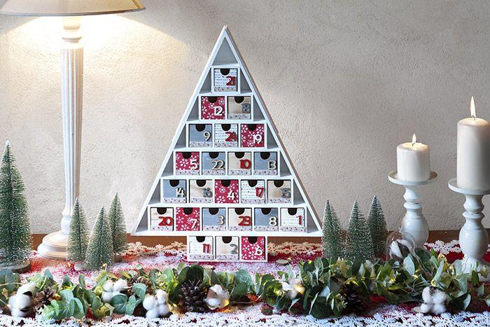 8. Le calendrier est prêt pour être garni de surprises en attendant Noël.
