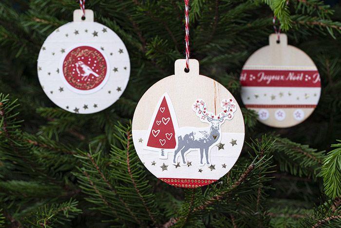 5. Les suspensions peuvent décorer le sapin de Noël.