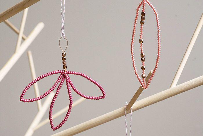 8. Les suspensions peuvent décorer le sapin de Noël.