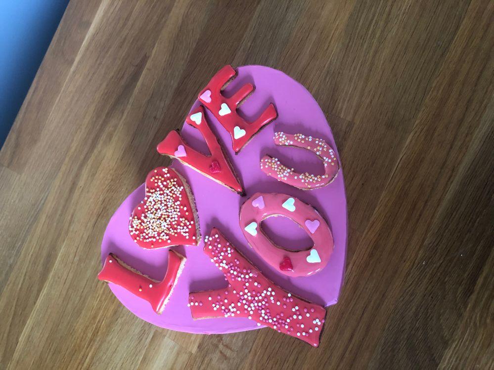 Biscuit saint Valentin concours