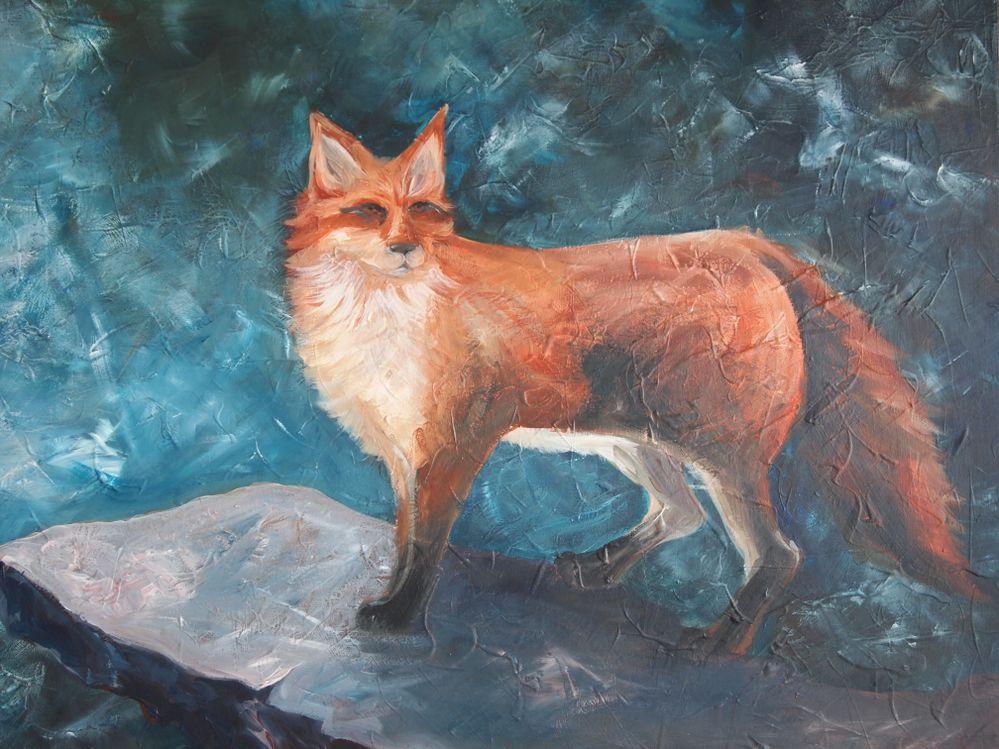 Renard, acrylique sur toile