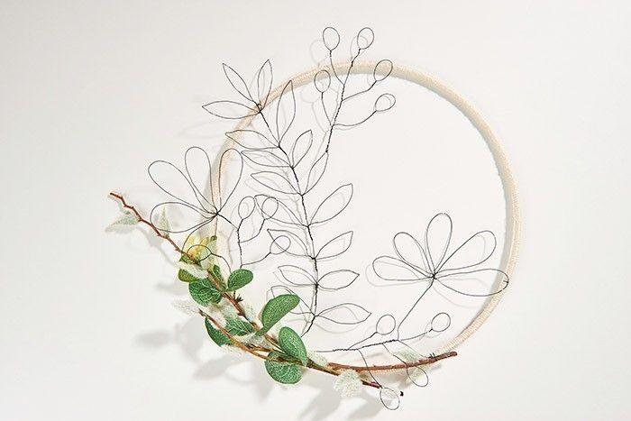 ETAPE 9/9 La couronne végétale est prête à décorer votre intérieur.