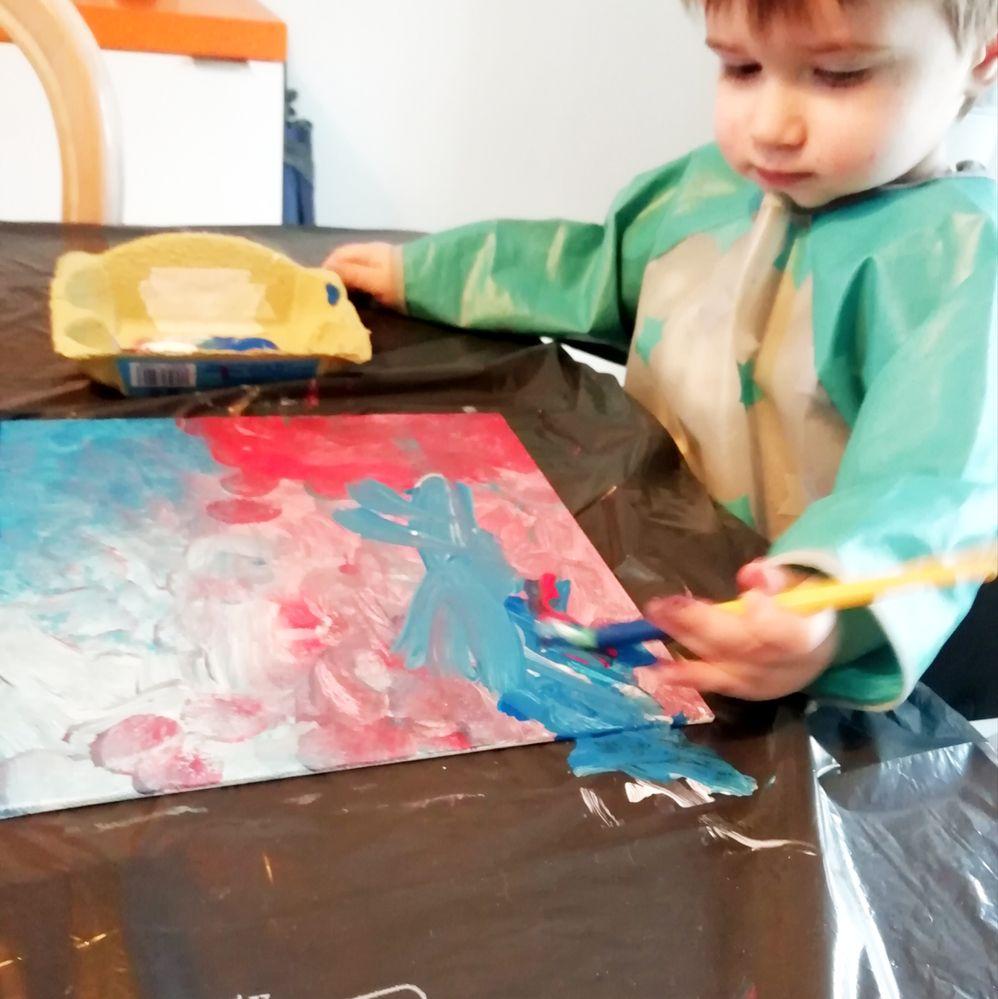 Peinture de la toile