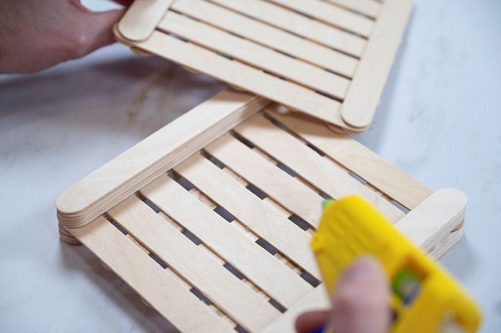 7. Régler la hauteur en superposant des étages pour finaliser la palette.